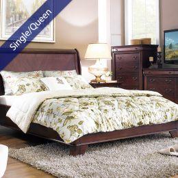 Grandiflora  Single/Queen Comforter ~100% Cotton~ (솜이불+베개커버 2개)(Size: 180 cm x 230 cm)