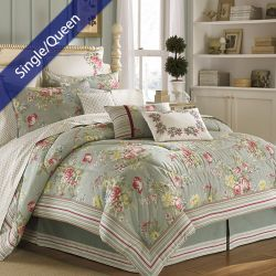 Eloise  Single/Queen Comforter 100% Cotton (솜이불+베개커버 2개)(Size: 180 cm x 230 cm)
