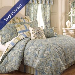 Swept Away  Single/Queen Comforter ~100% Cotton~ (솜이불+베개커버 2개) (Size: 180 cm x 230 cm)