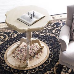 28285W  White Round Table