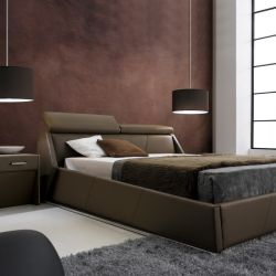 AY297  Leather Bed