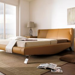 AY273  Leather Bed