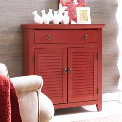 163-933  Red Shutter Console