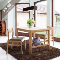 D5290-2 Marble Dining Set  (1 Table + 2 Chairs)