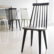Julie-Black  Wooden Chair