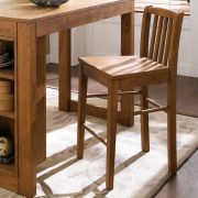 (0) D390-Oak-BC  Bar Chair