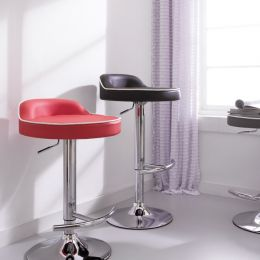 64984-Red  Solina Adjustable Bar Stool