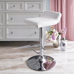41696-White  Fiesta Adjustable Bar Stool