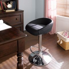 08002-Black  Fargo Adjustable Bar Stool