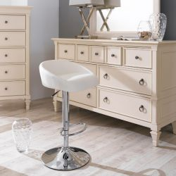 08006-White  Fargo Adjustable Bar Stool