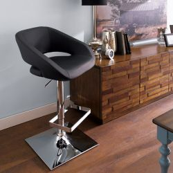 20722-Black  Gustavo Adjustable Bar Stool