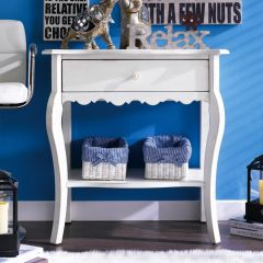 Milan-White  Accent Console