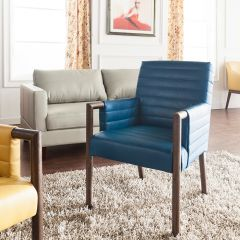 Fitzgerald-Turquoise  Accent Chair