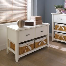 BS-3700-2  2-Drawer Rattan Basket Chest