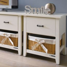 BS-3700-1  1-Drawer Rattan Basket Chest