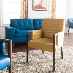 Fitzgerald-Mustard  Accent Chair