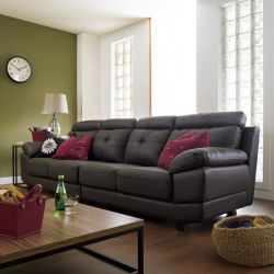 S-1562-Brown (2+2) Leather Sofa