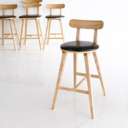 Grape-Natural  Bar Chair