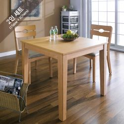 PAI-2-Natural  Dining Set (1 Table + 2 Chairs)
