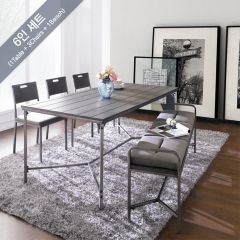 Chapman-6  Dining Set (1 Table + 3 Chairs + 1 Bench)