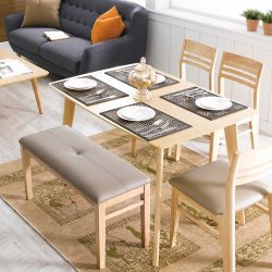 Doremi-4  Dining Set (1 Table + 2 Chairs + 1 Bench)