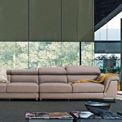 PS-0062 (2.5+2.5)  Leather Sofa