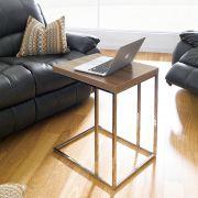 XR-T25-Walnut  Sofa Desk
