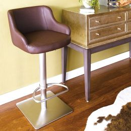 0890-BRW  Adjustable Bar Stool
