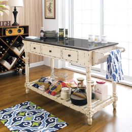 12542  Kitchen Island w/ Stone Top