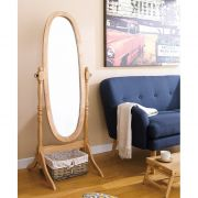 TP-6021N  Natural Oval Mirror