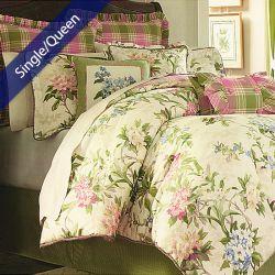 Garden Path  Single/Queen Comforter ~100% Cotton~ (솜이불+베개커버 2개)(Size: 180 cm x 230 cm)