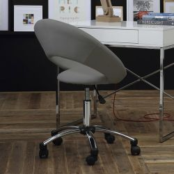 Plump-Grey  Desk Chair