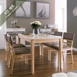 Kimberly-4C-Marble  Dining Set  (1 Table + 4 Chairs)