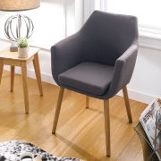 Nora-Grey  Accent Chair