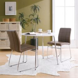 Marcus-Cappucino  Dining Set (1 Table + 2 Chairs)
