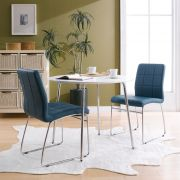 Marcus-Petrol  Dining Set (1 Table + 2 Chairs)