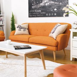 Hobart-Orange  3-Seater Sofa