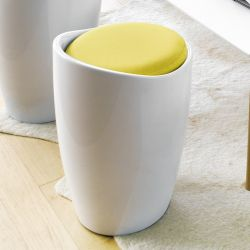 Minxie-Yellow  Storage Ottoman