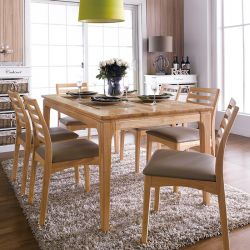 Ruben-6  Dining Set (1 Table + 6 Chairs)