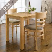 Cabin-2-Natural  Dining Set (1 Table + 2 Chairs)
