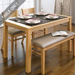 Cabin-4-Natural-D  Dining Table (Table Only)