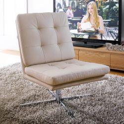 Carrera-Ivory PU  Swivel Chair