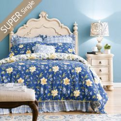 Lily-Ivory-HB  Super Single Panel Bed