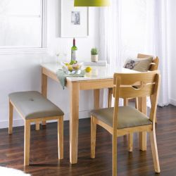 PAI-4-Natural  Marble Dining Set (1 Table + 2 Chairs + 1 Bench)