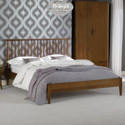 Orbit-Walnut-Low  Queen Bed w/ Slats