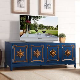 Blue 72  Large TV Stand