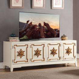 Cream 72  Large TV Stand
