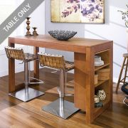 D390-4-Oak-IT  Island Table  (Table Only)