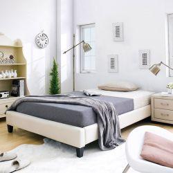 Gerda-1500-Beige  Queen Bed w/ Slats