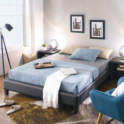 Gerda-1500-Brown  Queen Bed w/ Slats